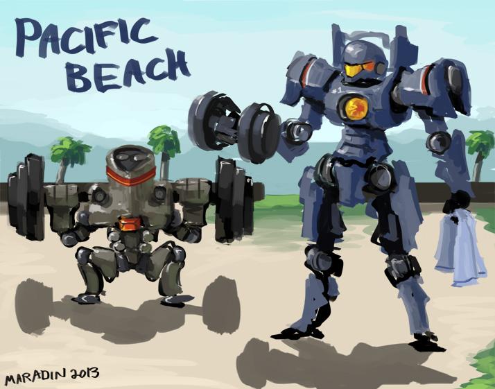 Pacific Beach by Nidaram