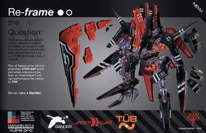THEOS Custom Combat Taedus 04: Redstart Frame