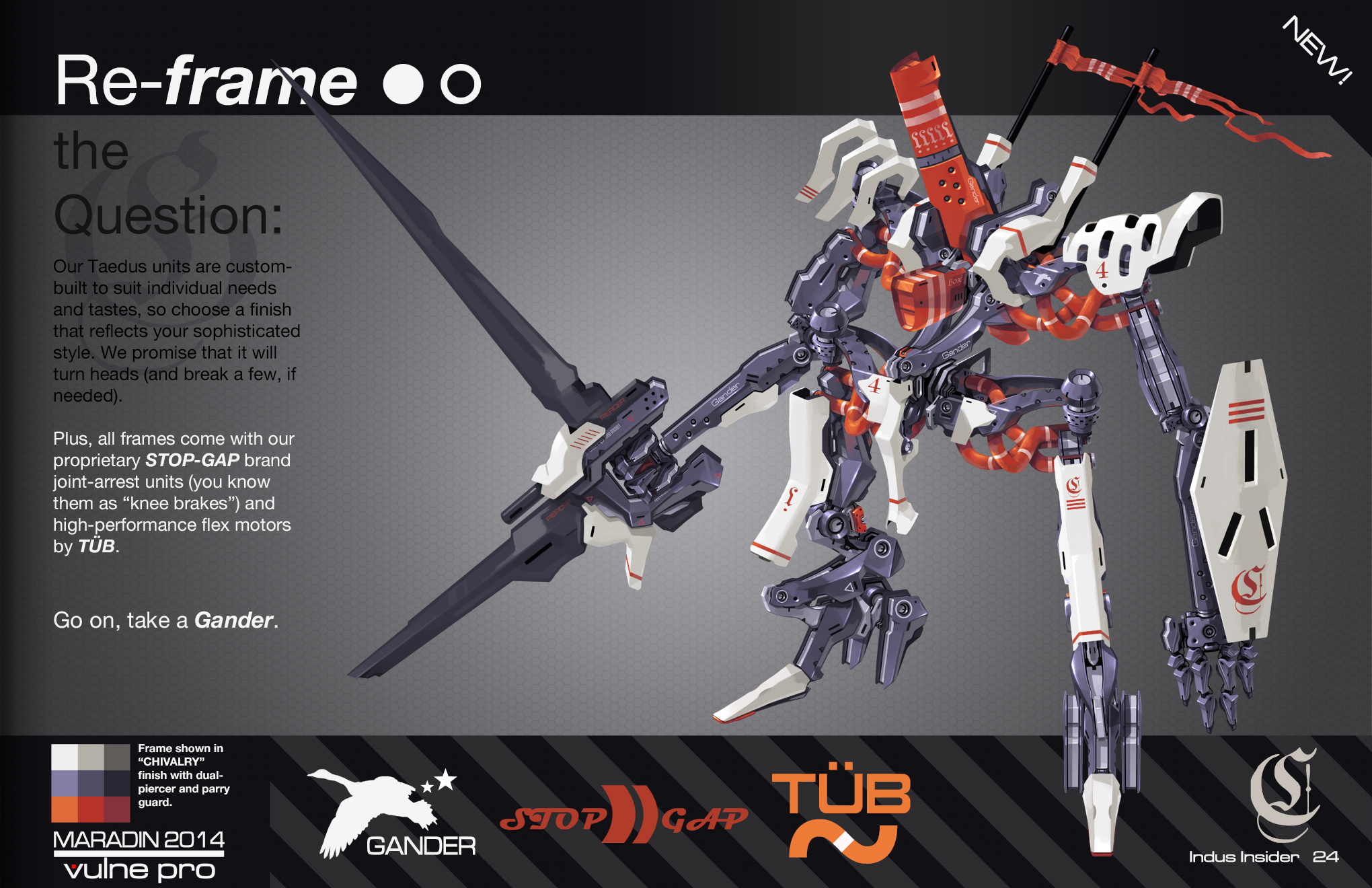 THEOS Custom Combat Taedus 05: Chivalry Frame by Nidaram