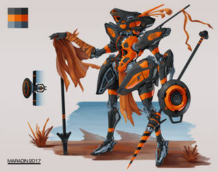 Orange Frame Mecha by Nidaram