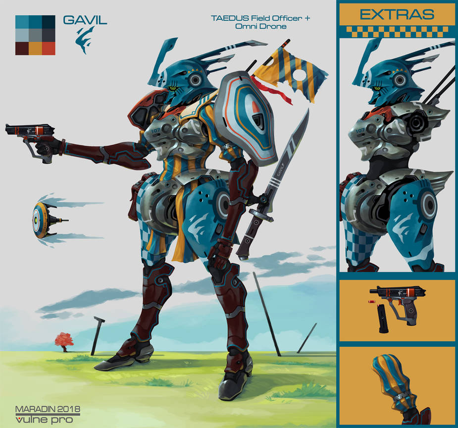 Striped Gambeson Mecha by Nidaram