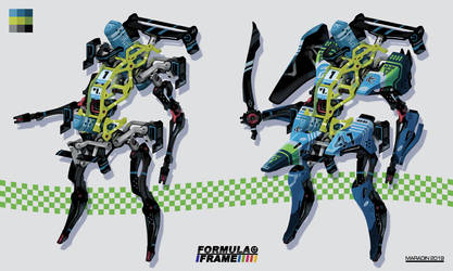 Formula Frame: Blue Mecha