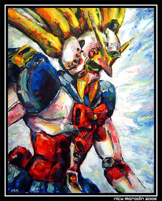 Nobel Gundam in Action 1 by Nidaram