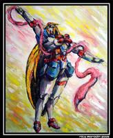 Nobel Gundam in Action 3 by Nidaram