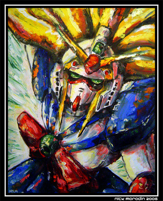 Nobel Gundam in Action 4 by Nidaram