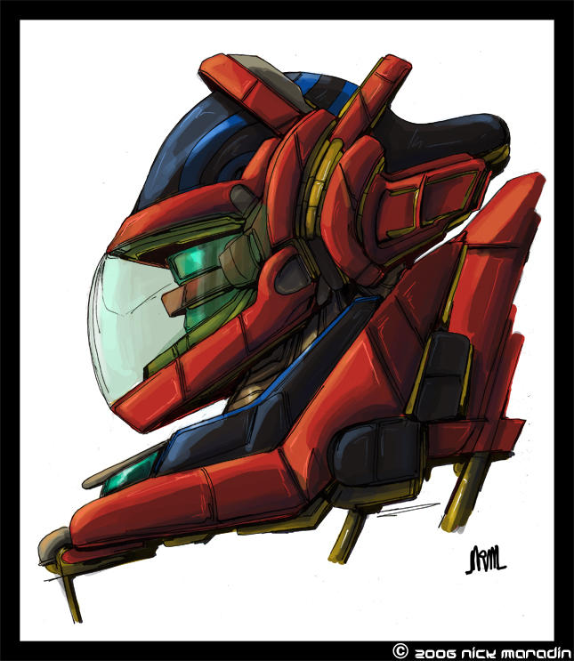 Mecha Head by Nidaram