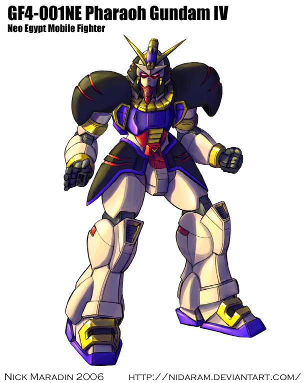 Pharaoh Gundam by Nidaram