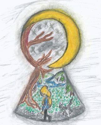 thru the crescent moon by Vixse