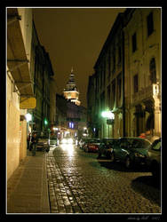 Night in Cracow: Bracka Street by Lady-CaT
