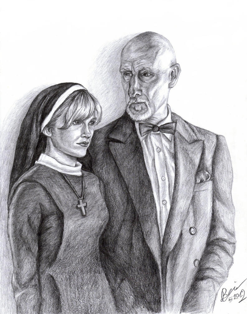AHS: Dr. Arden and Sister Mary Eunice by Lady-CaT