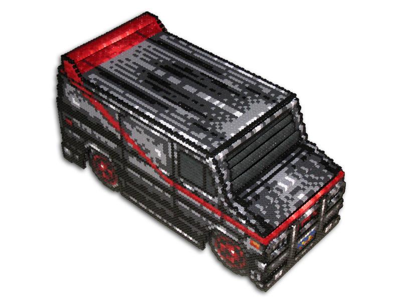 A-Team Van 3D Bead Sprite by DrOctoroc