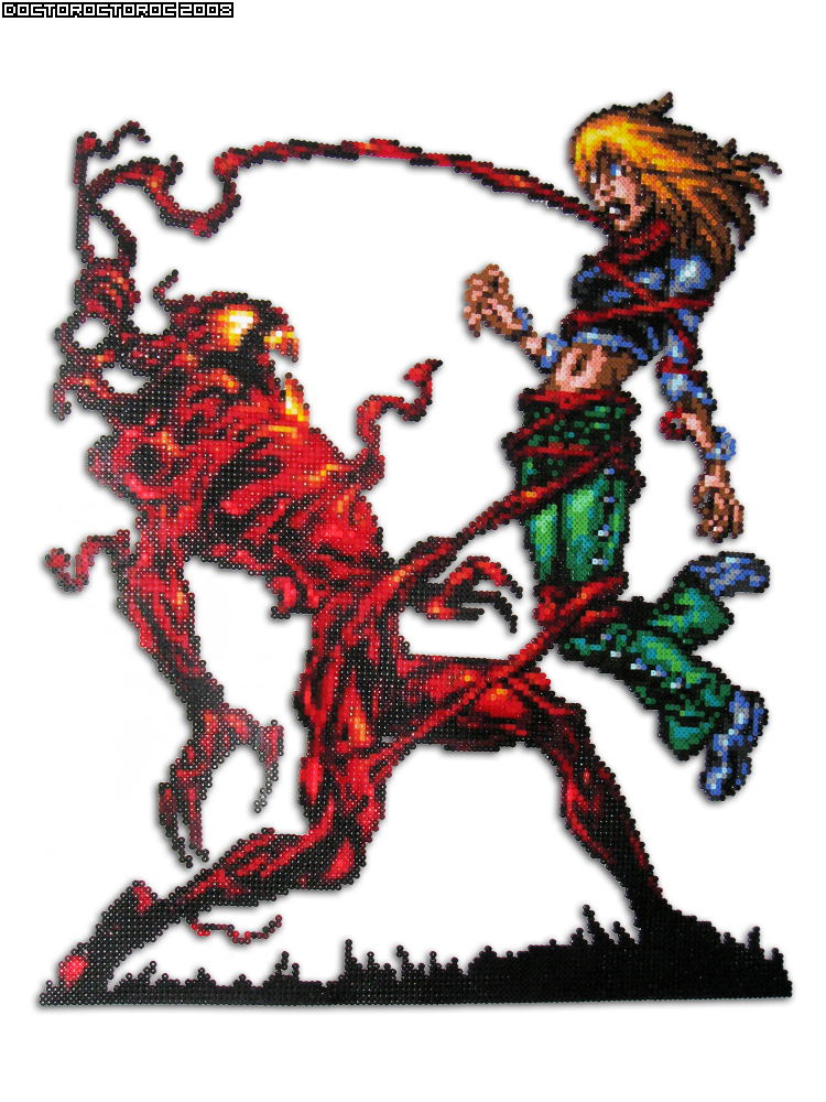 Gwen Stacy Carnage Bead Sprite by DrOctoroc