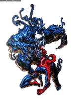 Spider Man v Venom Bead Sprite by DrOctoroc