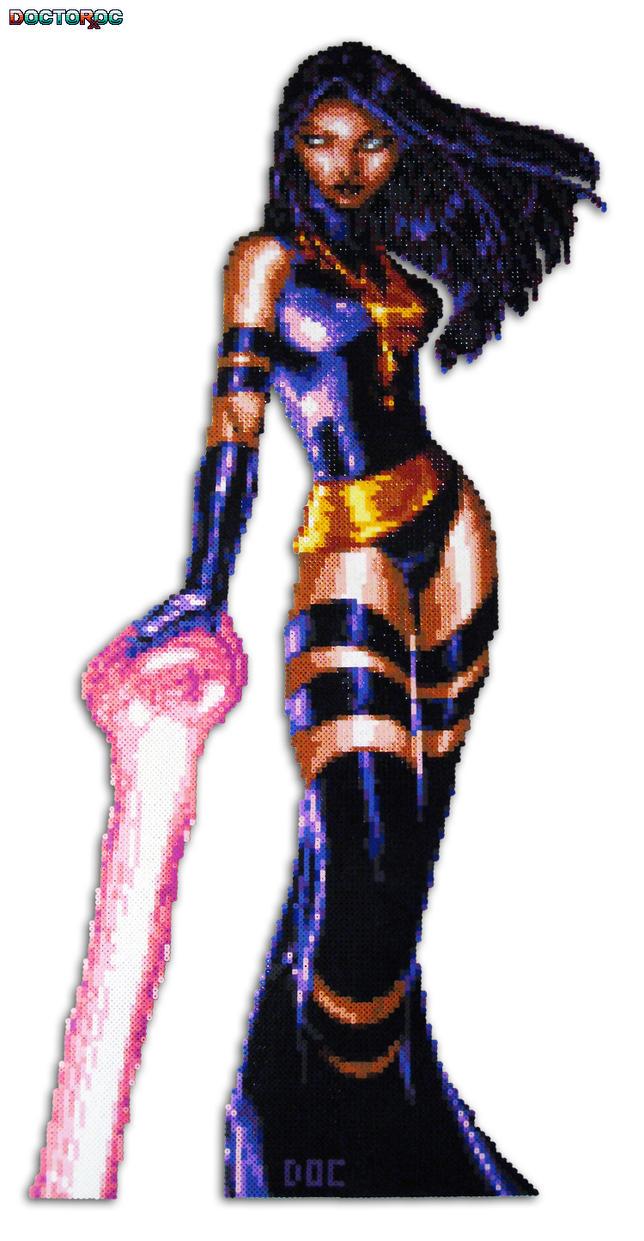 Psylocke Large Bead Sprite by DrOctoroc