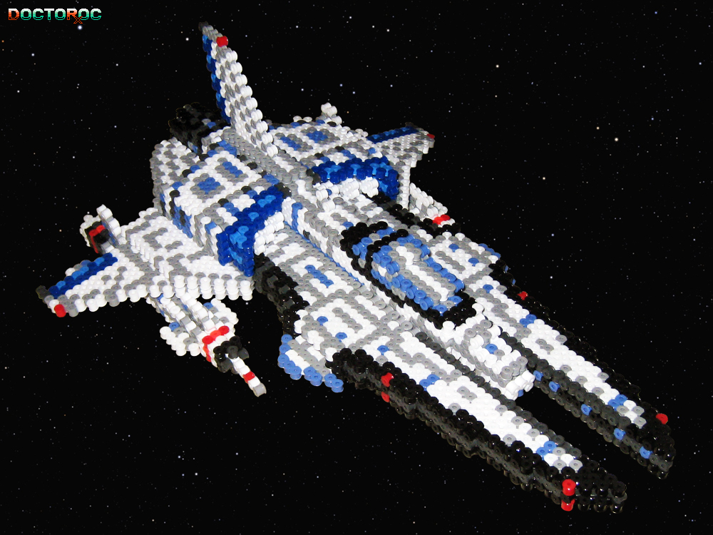 Vic Viper 3-D Beadsprite Front by DrOctoroc