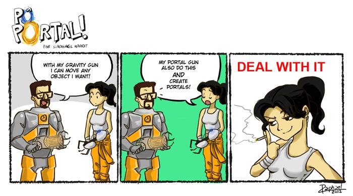 Po Portal 7 - Take that, Freeman by raphahardt