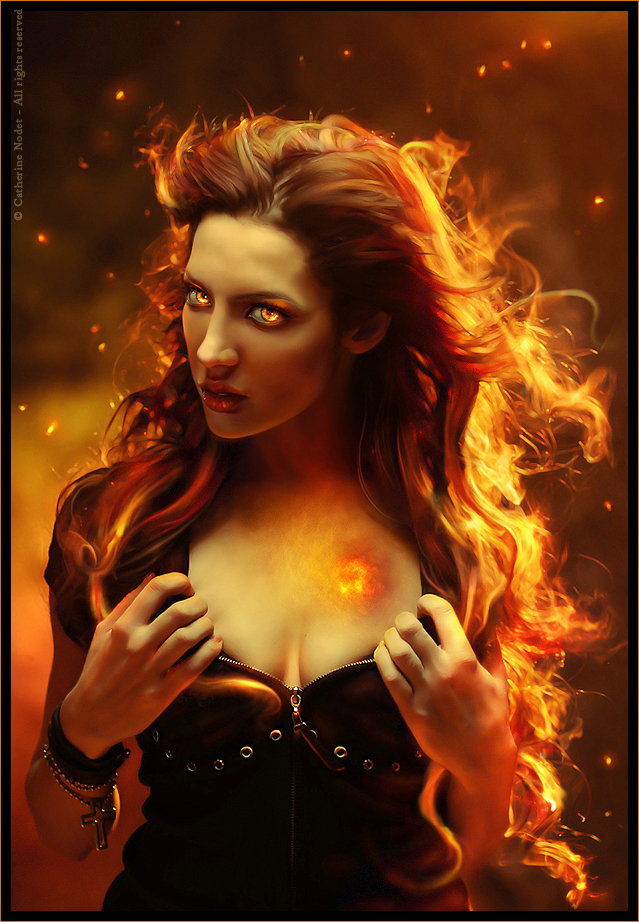 Heart of fire by CatherineNodet