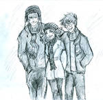Wintertime trio