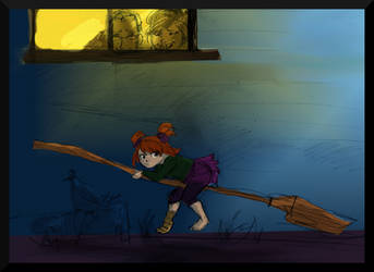Ginny night-flying by HILLYMINNE