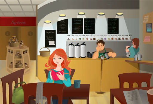 scene in a cafe