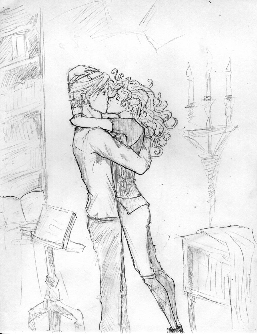 Rose and Scorpius first kiss by HILLYMINNE