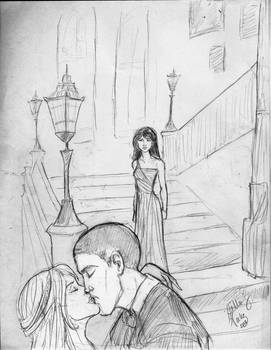 Su Li walking in on Blaise and Daphne