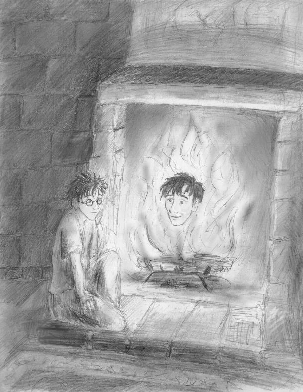 Harry and Sirius' head