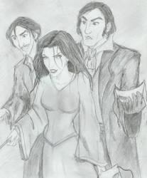 Bellatrix Rastaban + Rodolphus by HILLYMINNE