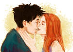 Gin harry kiss by HILLYMINNE