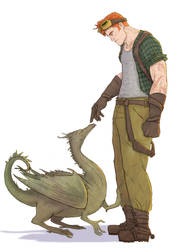 Charlie Weasley and a dragon by HILLYMINNE