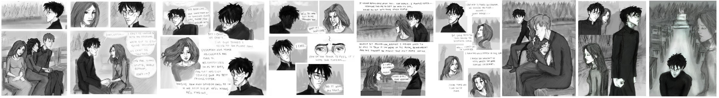 The finished HBP Chap 30 comic by HILLYMINNE