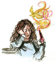 Hermione and the canaries by HILLYMINNE