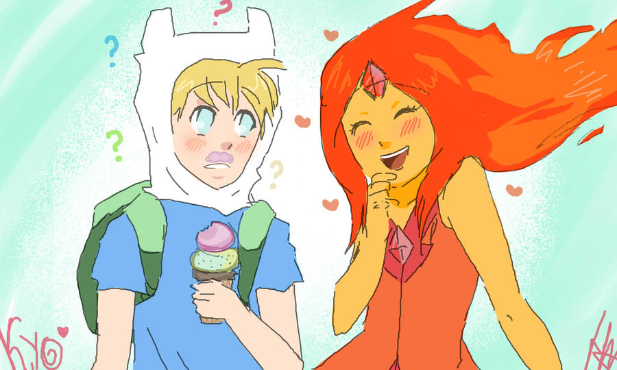 Adventure Time Finn And Flame Princess Have A Baby | www ...