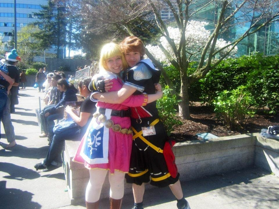 Sakura con 2013 Sora and Zelda by XGamer-MaidenX