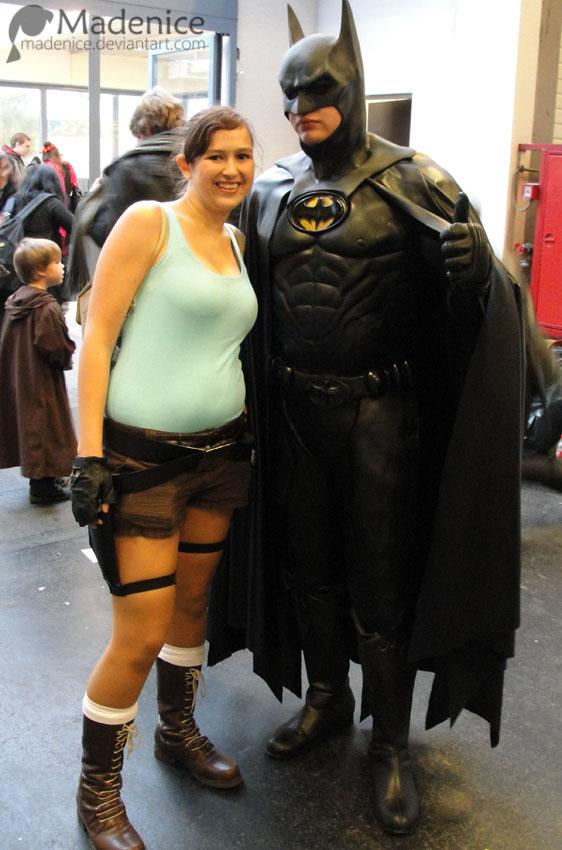 Lara Croft and Batman by Madenice