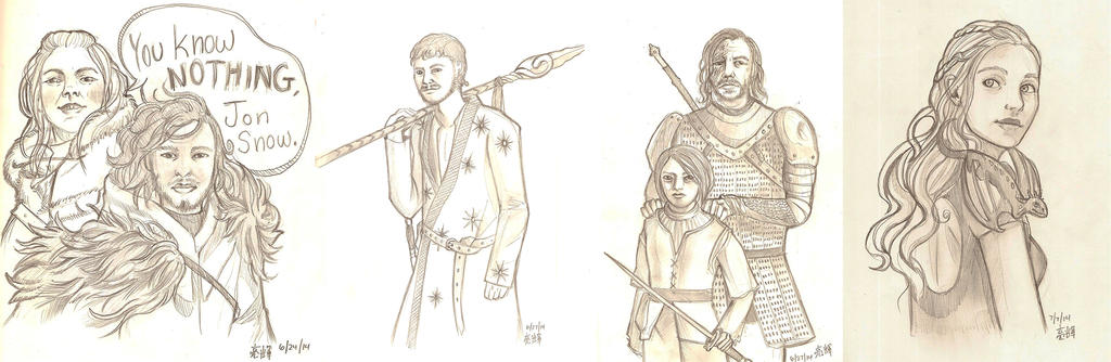 Game of Thrones Sketches by AngelicRoyalty