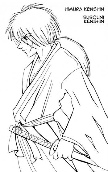 coloring pages for rurouni kenshin - photo#10