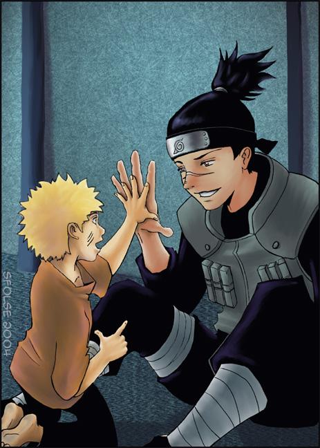 002 Hand: Iruka and Naruto by telophase