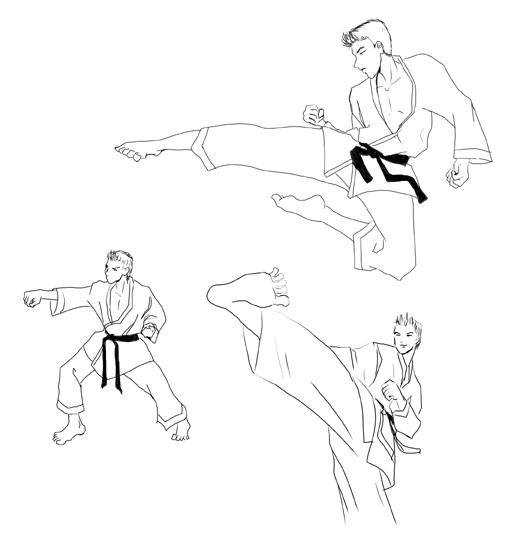 Karate sketches by telophase on DeviantArt