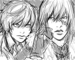 Mello and Near Sketch