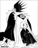 Kenpachi and Yachiru by telophase