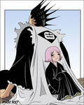 Kenpachi and Yachiru Color by telophase
