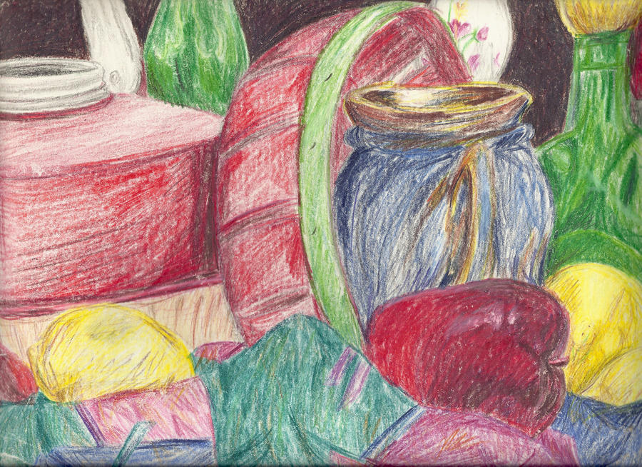 Colored pencil objects