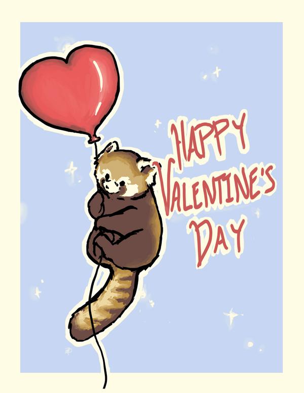 Red Panda Valentine by B-gata