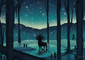 Princess Mononoke - Forest Spirit by Erisiar