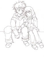 Naruto - Xmas Lineart by shuninite