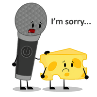 Microphone apologizes to Cheesy by Wikerstervolski