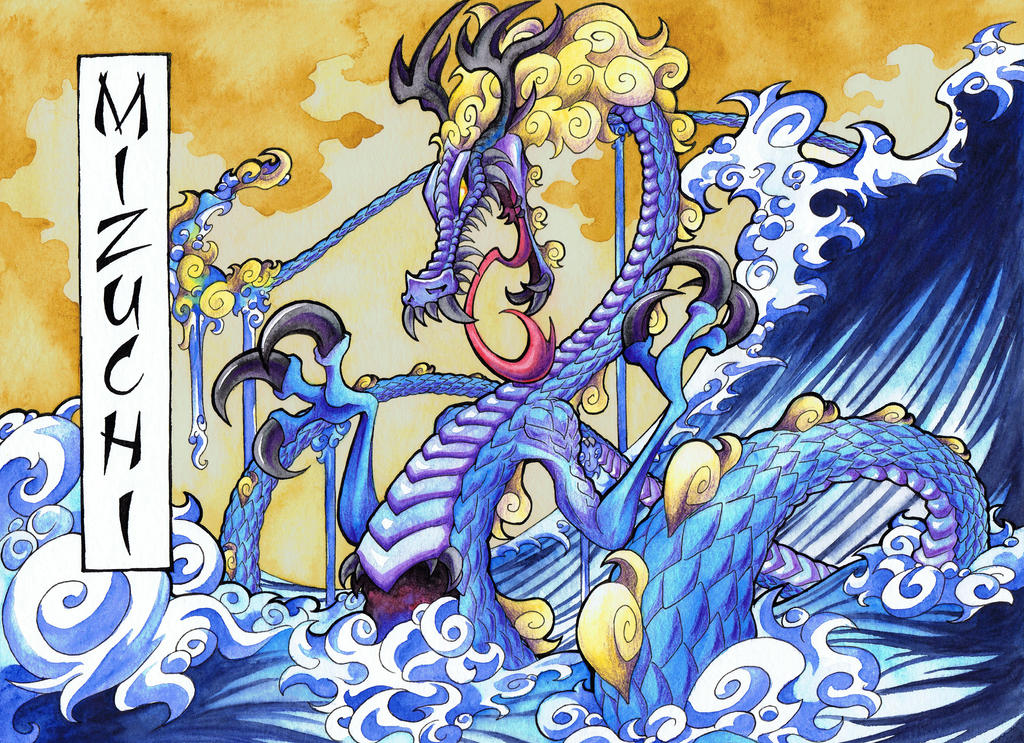 Mizuchi Of The Great Waves by HallowGazer