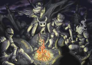 Meeting at a Bonfire