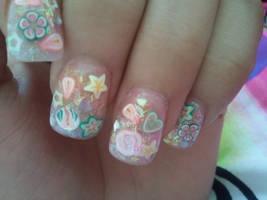 Girly Nail Art by grlwonder